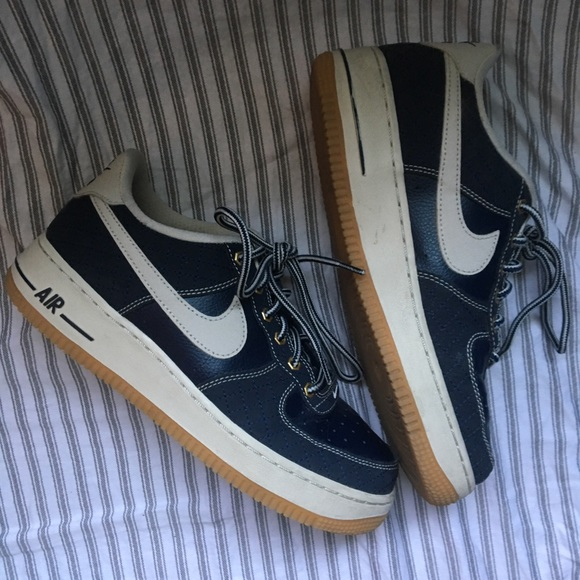 Force Blue Nike Navy Air 1 Sole Gum BoWderxC